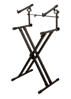 Double tier keyboard stand